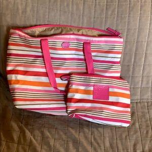 Coach bag with little bag insert